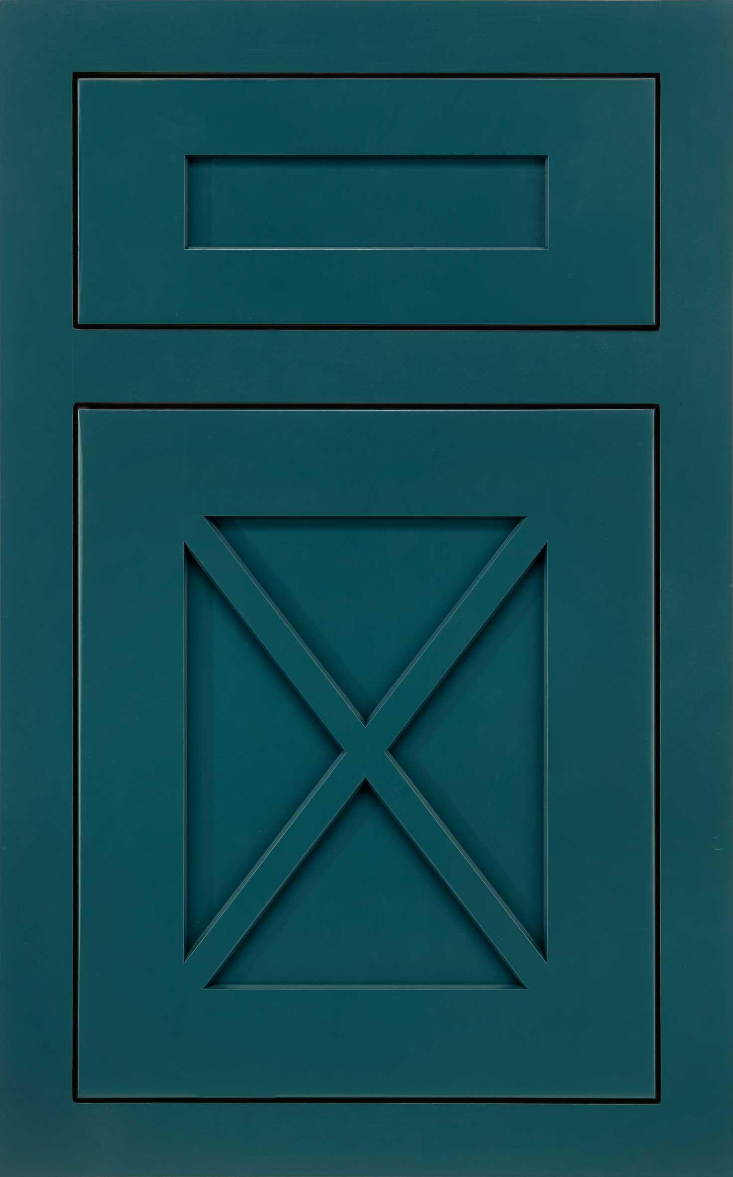 Amesbury cabinet door in blue
