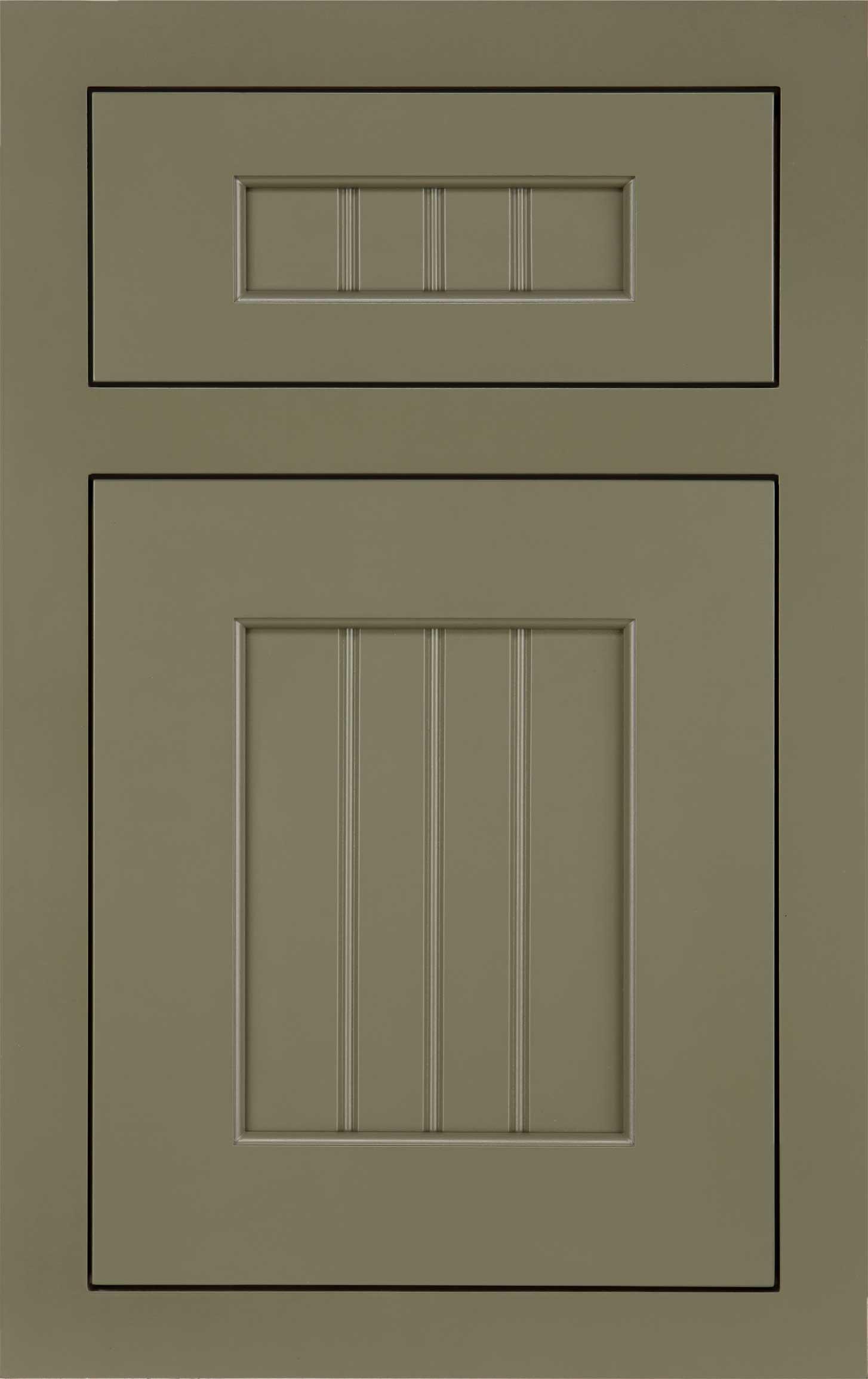Dana Pointe cabinet door in green