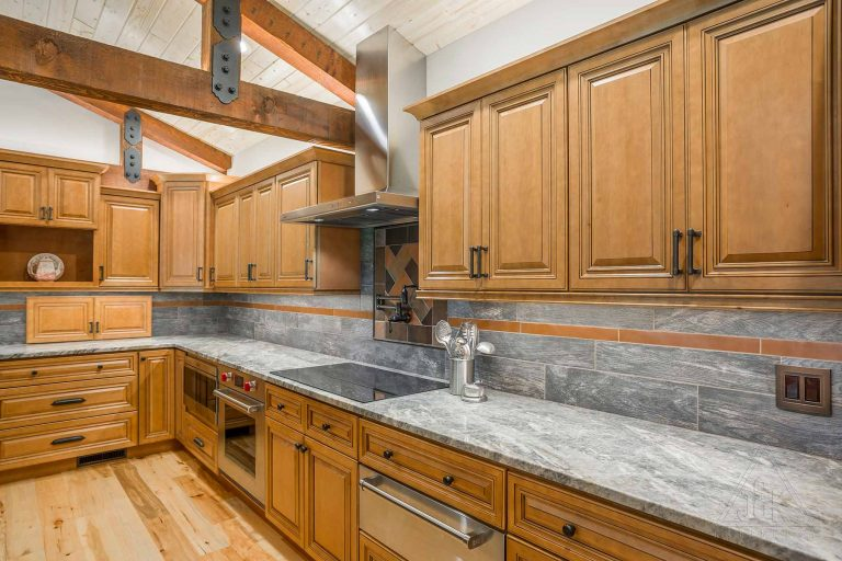 J&K Cabinets traditional line of cabinets displayed in a kitchen